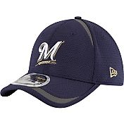 New Era Men's Milwaukee Brewers 39Thirty Navy Reflectaline Flex Hat
