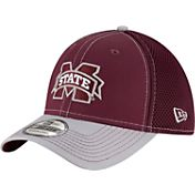 New Era Men's Mississippi State Bulldogs Maroon/Grey Team Front Neo 39Thirty Hat