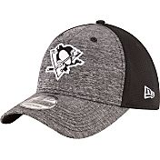 New Era Men's Pittsburgh Penguins Shadowed Grey/Black Flex Hat