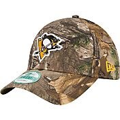 New Era Men's Pittsburgh Penguins 9Forty The League Real Tree Camo Adjustable Hat