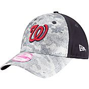 New Era Women's Washington Nationals 9Forty Glamo Camo Navy Adjustable Hat