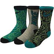 Nike Boys' Graphic Crew Socks 3 Pack
