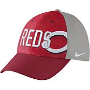 Nike Men's Cincinnati Reds Dri-FIT Red/Grey Swoosh Flex Fitted Hat