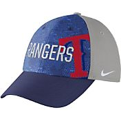 Nike Men's Texas Rangers Dri-FIT Royal/Grey Swoosh Flex Fitted Hat