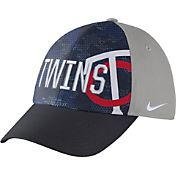 Nike Men's Minnesota Twins Dri-FIT Navy/Grey Swoosh Flex Fitted Hat