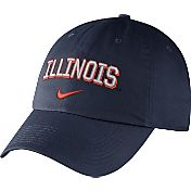 Nike Men's Illinois Fighting Illini Blue Heritage86 Wordmark Swoosh Flex Hat
