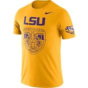 Nike Men's LSU Tigers Gold Enzyme Washed College Campus Elements T-Shirt