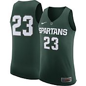 Nike Men's Michigan State Spartans #23 Green Authentic ELITE Basketball Jersey
