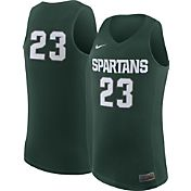 Nike Men's Michigan State Spartans #23 Green Replica ELITE Basketball Jersey