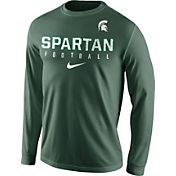 Nike Men's Michigan State Spartans Green Football Practice Long Sleeve Shirt