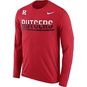Nike Men's Rutgers Scarlet Knights Scarlet Staff Sideline Long Sleeve Shirt