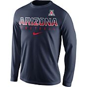 Nike Men's Arizona Wildcats Navy Football Practice Long Sleeve Shirt