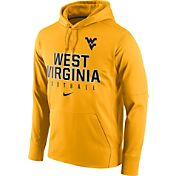 Nike Men's West Virginia Mountaineers Gold Circuit Performance Football Hoodie