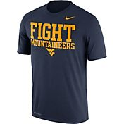 Nike Men's West Virginia Mountaineers Blue 'Fight Mountaineers' Authentic Local Legend T-Shirt