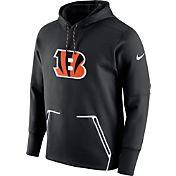 Nike Men's Cincinnati Bengals Sideline 2016 Vapor Speed Fleece Black Pullover Hoodie