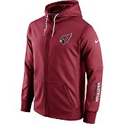 Nike Men's Arizona Cardinals Sideline 2016 Circuit Red Full-Zip Hoodie