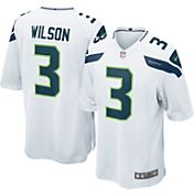 Nike Men's Away Game Jersey Seattle Seahawks Russell Wilson #3