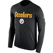 Nike Men's Pittsburgh Steelers Essential Lockup Black Long Sleeve Shirt
