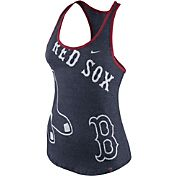 Nike Women's Boston Red Sox Marled Navy Racerback Tank