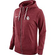 Nike Women's Oklahoma Sooners Heathered Crimson Tailgate Gym Vintage Full-Zip Hoodie