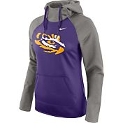 Nike Women's LSU Tigers Grey/Purple Tailgate All Time Performance Hoodie