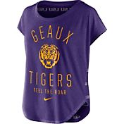 Nike Women's LSU Tigers Purple Gameday Signal Tri-Blend T-Shirt