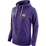 Nike Women's LSU Tigers Heathered Purple Tailgate Gym Vintage Full-Zip Hoodie