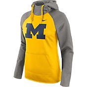 Nike Women's Michigan Wolverines Grey/Maize Tailgate All Time Performance Hoodie