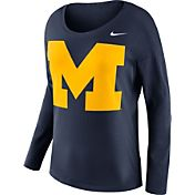 Nike Women's Michigan Wolverines Blue Tailgate Long Sleeve Shirt