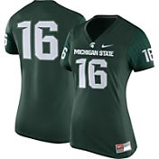 Nike Women's Michigan State Spartans #16 Green Game Football Jersey