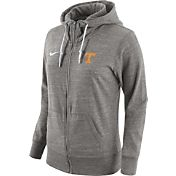 Nike Women's Tennessee Volunteers Heathered Gray Tailgate Gym Vintage Full-Zip Hoodie