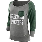 Nike Women's Green Bay Packers Tailgate Vintage Crew Grey Long Sleeve Shirt