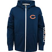 Nike Youth Chicago Bears Circuit Navy Full-Zip Hoodie