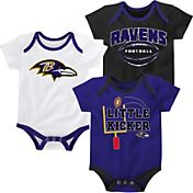 NFL Team Apparel Infant Baltimore Ravens 3-Pack Creeper Set