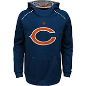 NFL Team Apparel Youth Chicago Bears Pinnacle Navy Performance Hoodie