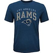 NFL Team Apparel Youth Los Angeles Rams Wheels Tri-Blend T-Shirt