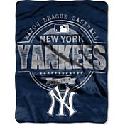 Northwest New York Yankees Structure Micro Raschel Throw Blanket