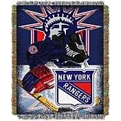 Northwest New York Rangers 48 in x 60 in Home Ice Advantage Tapestry Throw Blanket