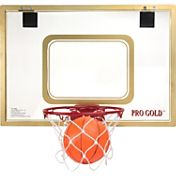 POOF Pro Gold 23'' Over the Door Basketball Set