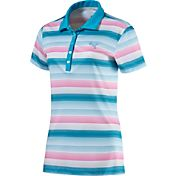 PUMA Women's Road Map Stripe Golf Polo