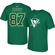 Reebok Men's Pittsburgh Penguins Sidney Crosby #87 Green St. Patrick's Day Player T-Shirt