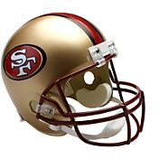 Riddell San Francisco 49ers VSR4 Deluxe Throwback '96 – '08 Full-Size Football Helmet