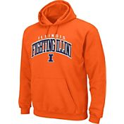 Section 101 Men's Illinois Fighting Illini Orange Cotton Hoodie