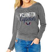 Soft As A Grape Women's Washington Capitals Grey Fleece Sweatshirt