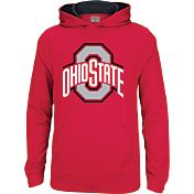 Scarlet & Gray Youth Ohio State Buckeyes Scarlet Tribute Fleece Hoodie
