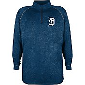 Stitches Men's Detroit Tigers Navy Quarter-Zip Pullover Fleece