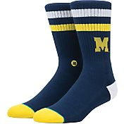 Stance Michigan Wolverines Striped Socks