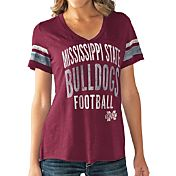 Touch by Alyssa Milano Women's Mississippi State Bulldogs Maroon Motion Football T-Shirt