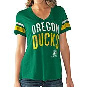 Touch by Alyssa Milano Women's Oregon Ducks Green Motion Football T-Shirt