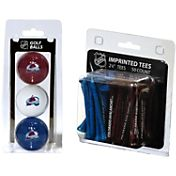 Team Golf Colorado Avalanche 3 Ball/50 Tee Combo Gift Pack